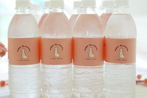 personalized water bottles for baby shower