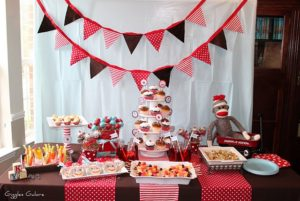 Sock Monkey Baby Shower party