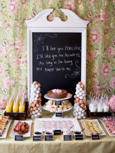 farmhouse baby shower brunch