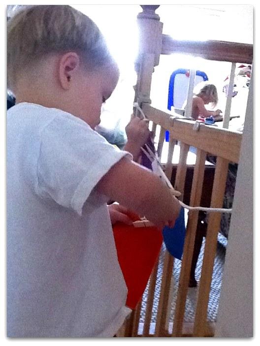 clothesline busy bag activity