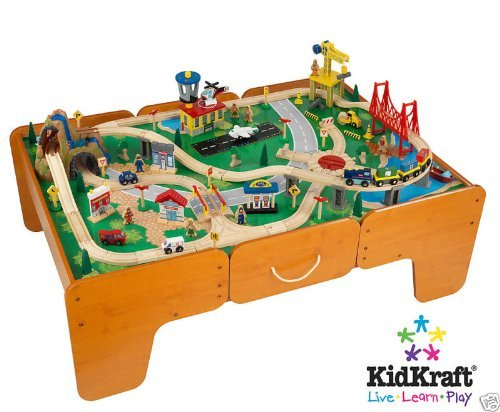 KidKraft train table and trains