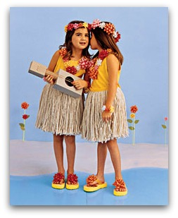 hula dancer costume DIY
