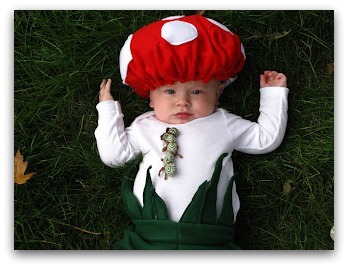 diy mushroom costume - Diy Halloween Baby Costumes