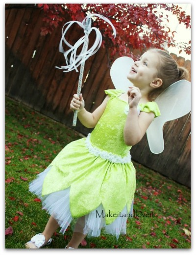 easy tinker bell costume