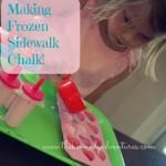 making your own frozen sidewalk chalk