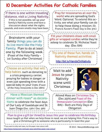 Catholic Christmas Activities