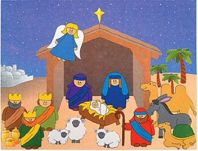 Nativity Scene Crafts for Kids Ideas