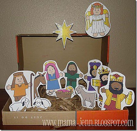 the proud owner of a custom handmade Nativity set from my friend ...