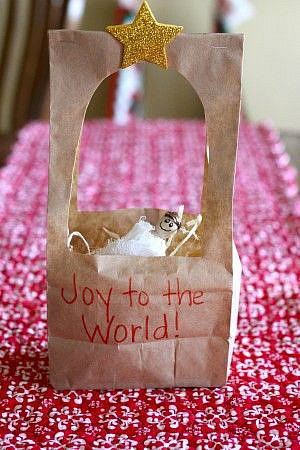 ... Nativity story to your children, they can create this paper bag manger