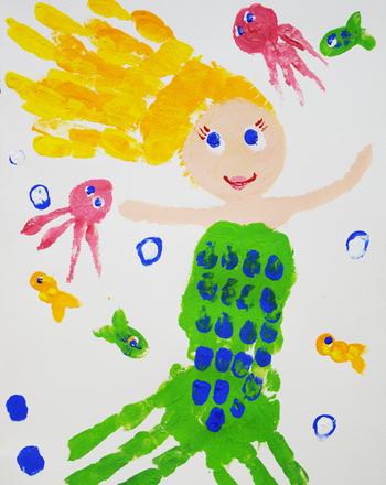 preschool summer craft mermaid