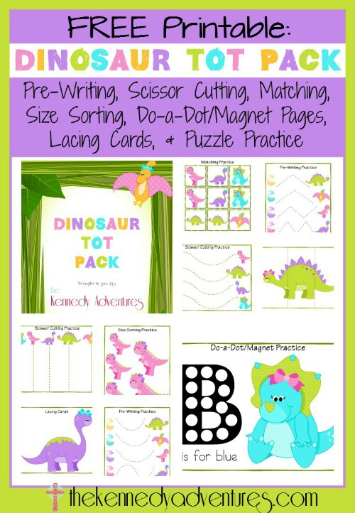 FREE Dinosaur Printables for Toddlers and Preschoolers
