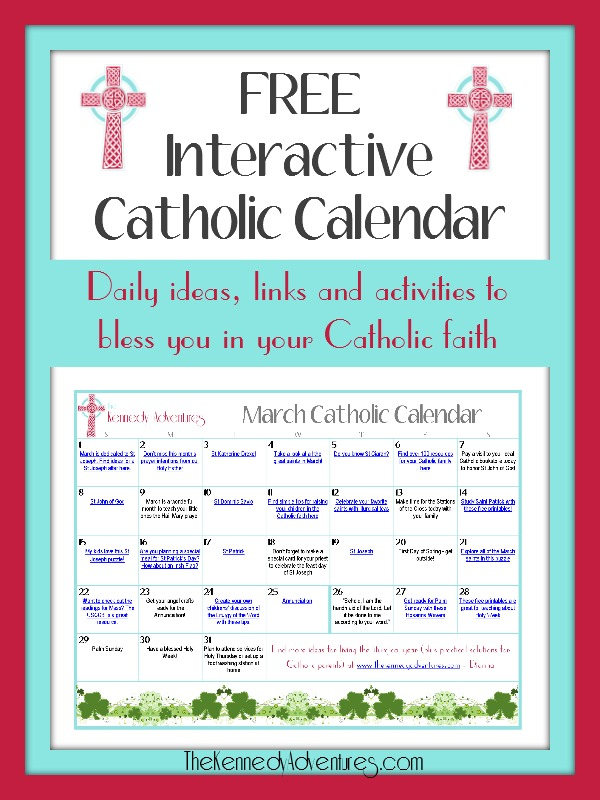 March Catholic Calendar