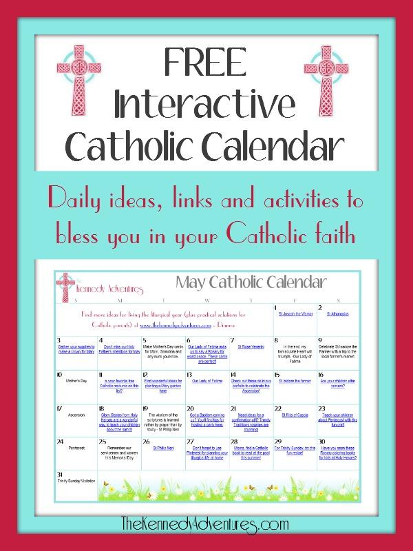 Catholic Family Calendar May