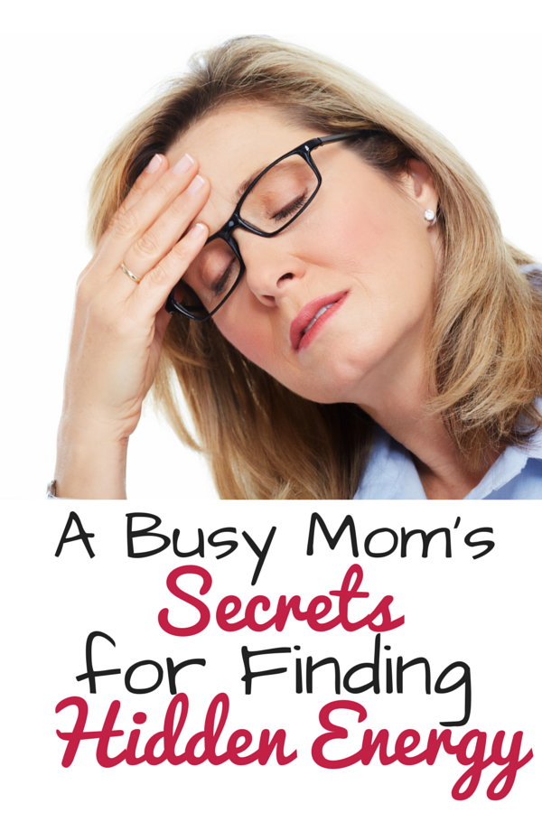 Busy moms energy tips