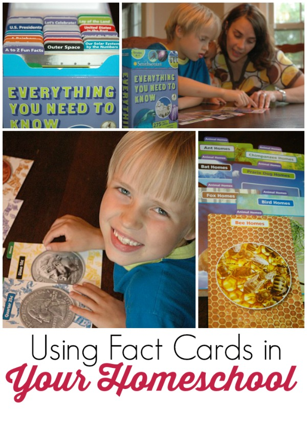 using fact cards in your homeschool - great way to learn, review facts and explore your children's passions