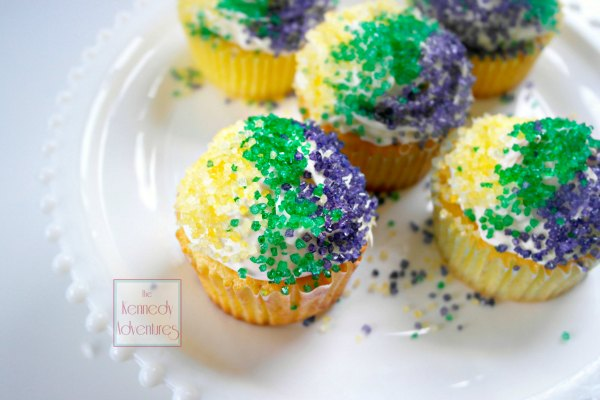 King Cake Cupcakes Perfect For Epiphany And Mardi Gras