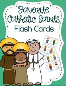 Catholic Saints Flash Cards