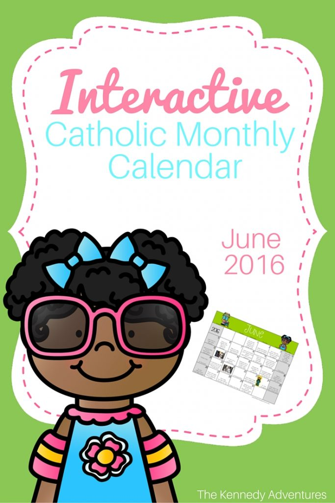 catholic activity calendar June
