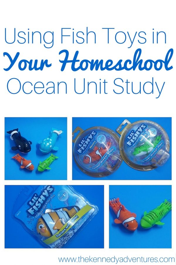 using fish toys in your homeschool ocean unit study