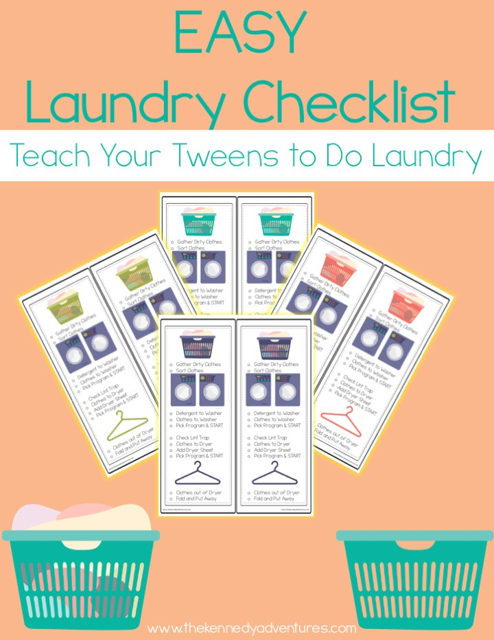 Want to have your tweens learn to do laundry? Arm them with this handy checklist. #FreeToBe