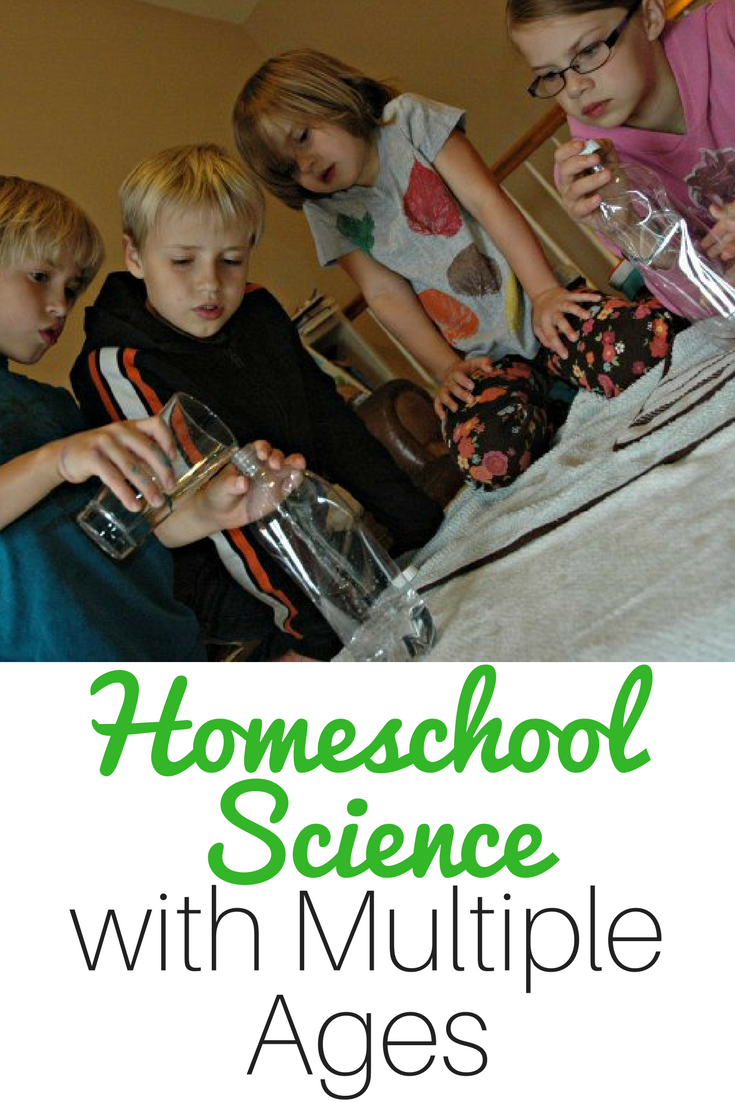 An Easy Peasy Approach to Homeschool Science with Multiple Ages