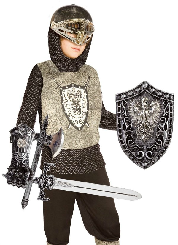 Knight Costume for All Saints Day - find this and more super simple ideas for your Catholic celebration!