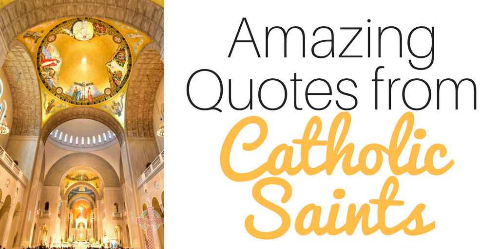 You'll find over 100 Catholic saints quotes here - perfect for memory work or morning time!
