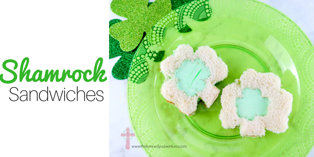 These Shamrock Sandwiches are perfect for your Saint Patrick's Day party!