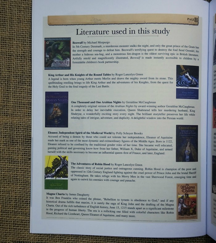 Study history through literature in your classical homeschool