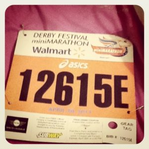 bib for mini marathon