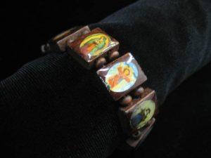 wooden saints bracelet