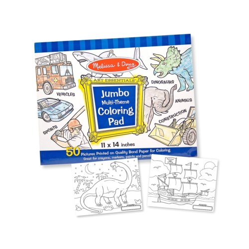 Melissa and DOug coloring pad for boys
