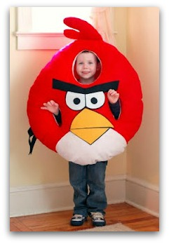 DIY angry birds costume