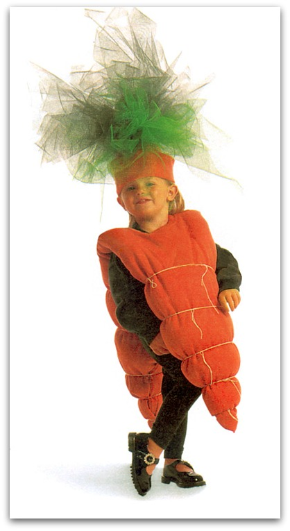 easy carrot costume