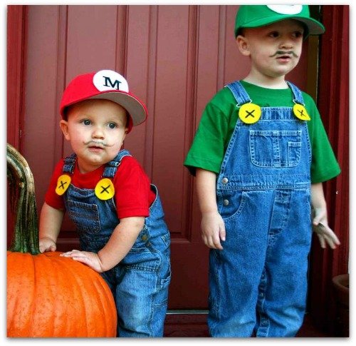 DIY Mario Bros costume  sc 1 st  The Kennedy Adventures! & DIY Halloween costumes for the Whole Family - The Kennedy Adventures!