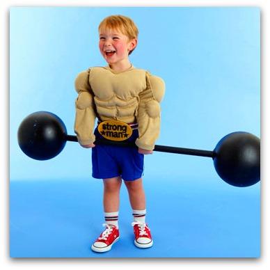 DIY Muscle man costume