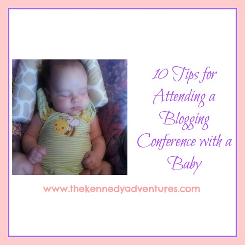 blogging conference with a baby