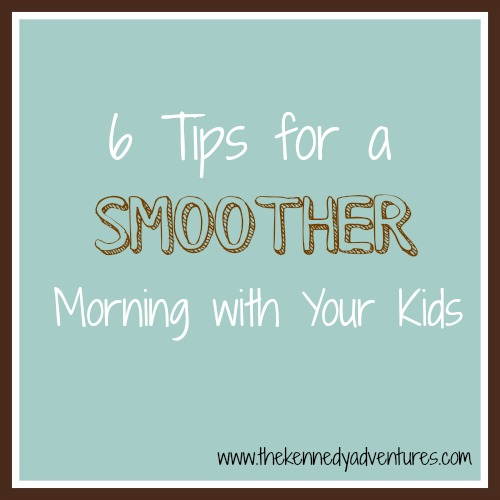tips for mornings with children