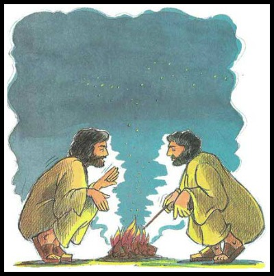 jesus and peter at the fire