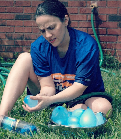 making water balloon pinatas