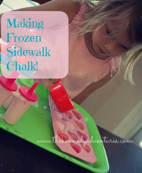 making your own frozen sidewalk chalk