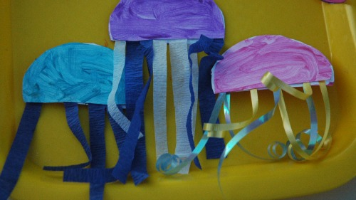 A book and a big idea commotion in the ocean the for Sea life arts and crafts