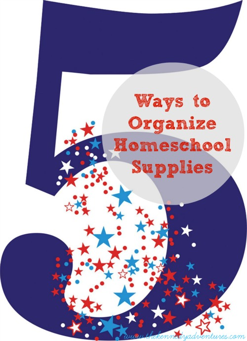 ways to organize homeschool supplies