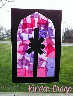 Advent window decoration crafts
