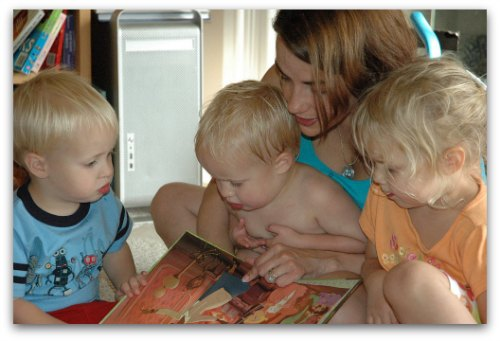 capturing the moments reading with my kids