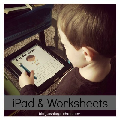 using worksheets with iPad