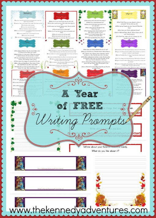 Free Writing Prompts for the Entire Year