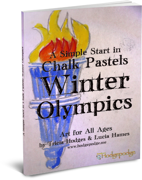 chalk pastels for the Winter Olympics