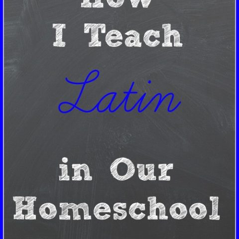 how we teach Latin in our homeschool