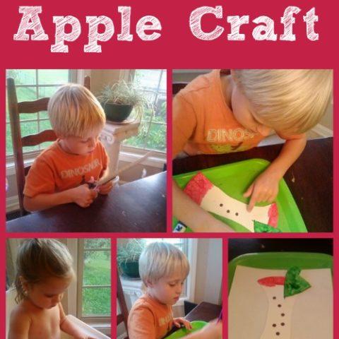 Paper Plate Apple Craft for Preschool and Toddlers #playfulpreschool